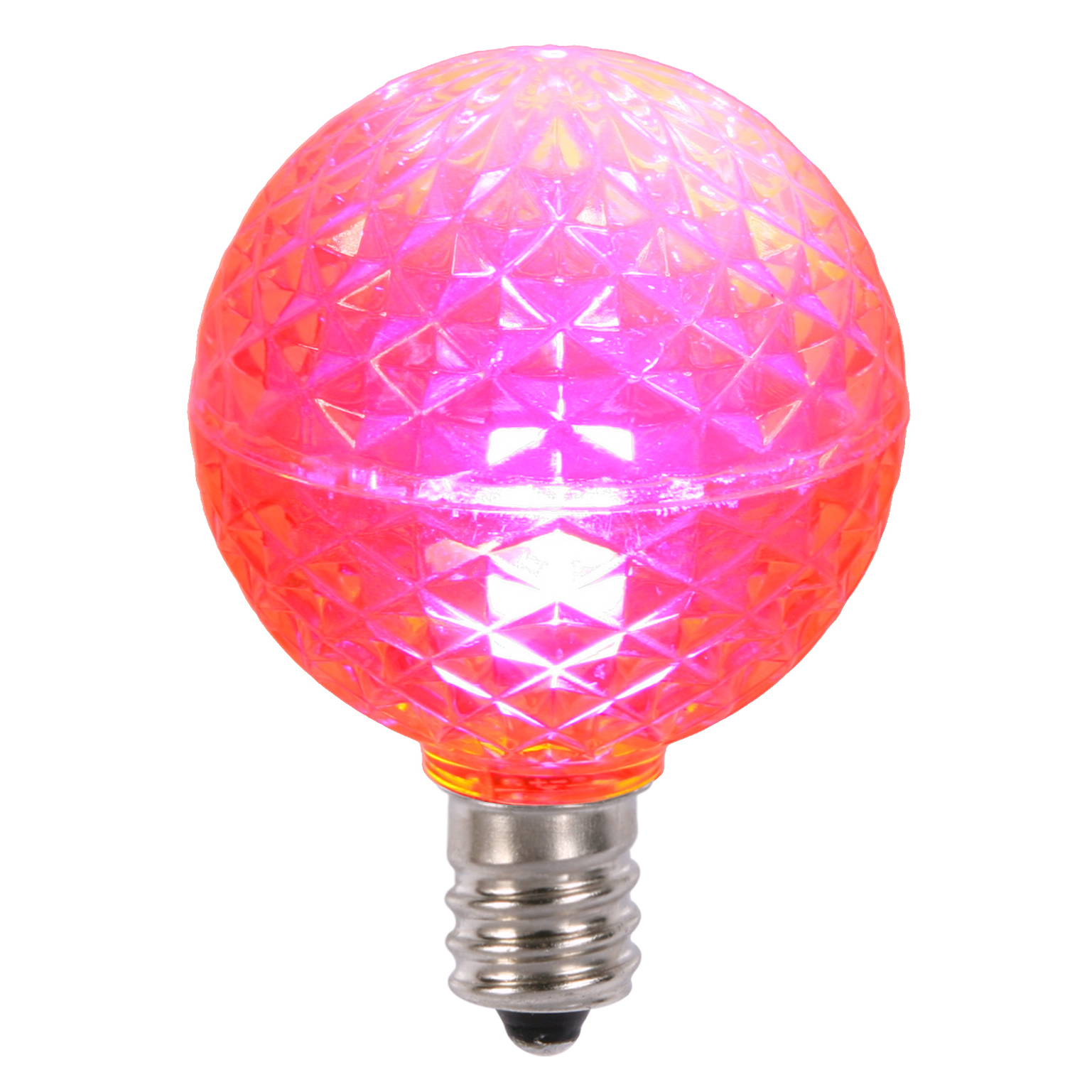 Vickerman G40 Faceted LED Pink Replacement Bulb E12 .38W