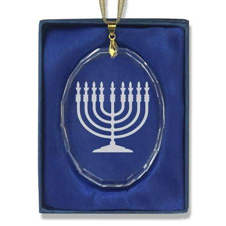 Oval Crystal Christmas Ornament -