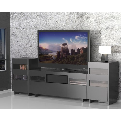 Nexera Vision Entertainment Center with Double Audio Towers - Black