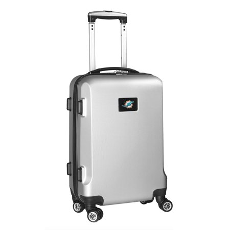 Miami Dolphins 21u0022 8-Wheel Hardcase Spinner Carry-On - Silver
