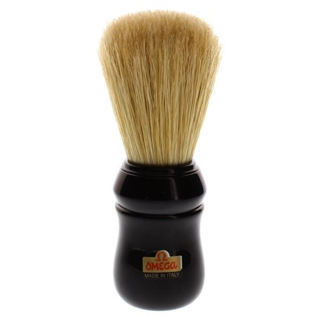 Omega 10049 Professional Boar Shaving Brush, Black Handle
