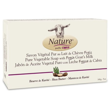 Nature Canus, Fresh Goat's Milk Vegetable-Based Soap Bar, Shea Butter, Made with Fresh Goat's Milk, naturally rich in proteins, vitamins, minerals and triglycerides...., By Nature by Canus ()
