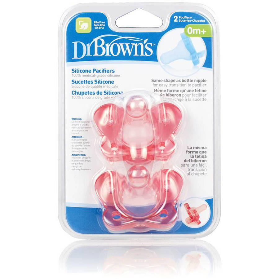 Dr. Brown's 1-Piece Silicone Pacifier, BPA-Free