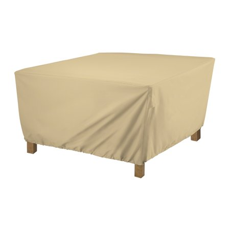Classic Accessories Terrazzo® Square Ottoman/Coffee Table Cover - All Weather Protection Outdoor Furniture Cover, Small (55-910-022001-EC) ()
