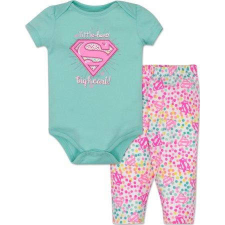 Supergirl Onesie and Leggings Set -
