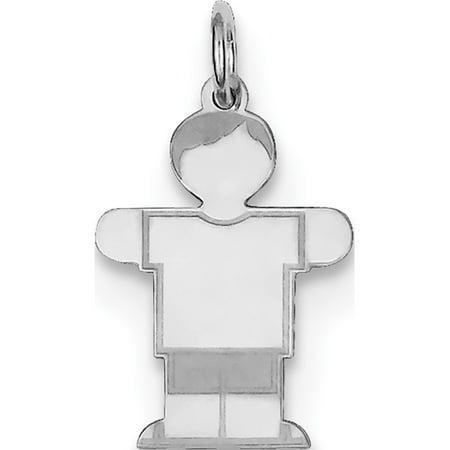 925 Sterling Silver Kid (14x25mm) Pendant / Charm - image 2 de 2
