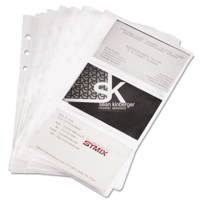 Refill Sheets for 4 1/4 x 7 1/4 Business Card Binders, 60 Card Capacity, 10/Pack, Sold as 1 Package, 10 Each per Package