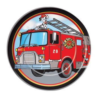 Firefighter Dinner Plates (8 Count) (Fire Truck Paper Plates)