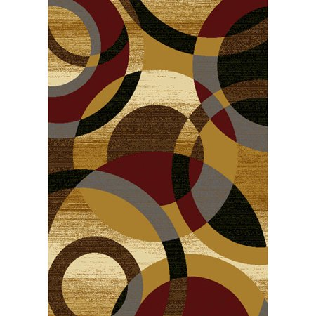 United Weavers Essence Jocelyn Gold Woven Polypropylene Area Rug ()