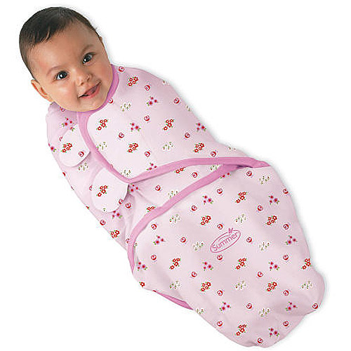 Summer Infant SwaddleMe Swaddling Blanket, Pink Lady Bug, Small