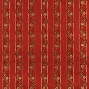 Designer Fabrics K0013G 54 in. Wide Red, Brown, Gold And Ivory Embroidered, Striped, Floral Brocade, Upholstery And Window Treatments Fabric