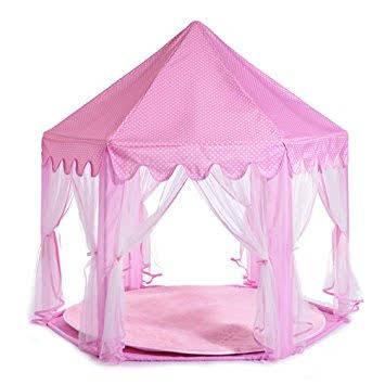 Play Tent Child Princess Castle Indoor and Outdoor Large Play House Game House Pink  sc 1 st  Walmart : large play tents - afamca.org