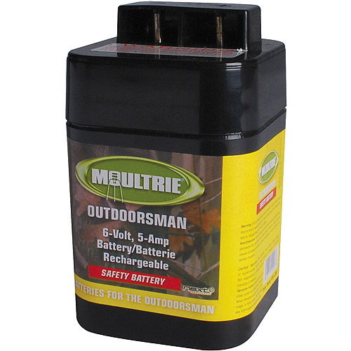 Moultrie 6V Rechargeable Battery with a Safety Top
