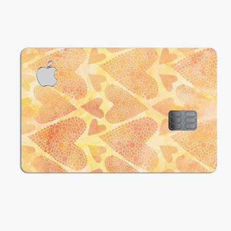 The Yellow Orange Tiny Hearts of a Whole - Premium Protective Decal Skin-Kit for the Apple Credit Card ()