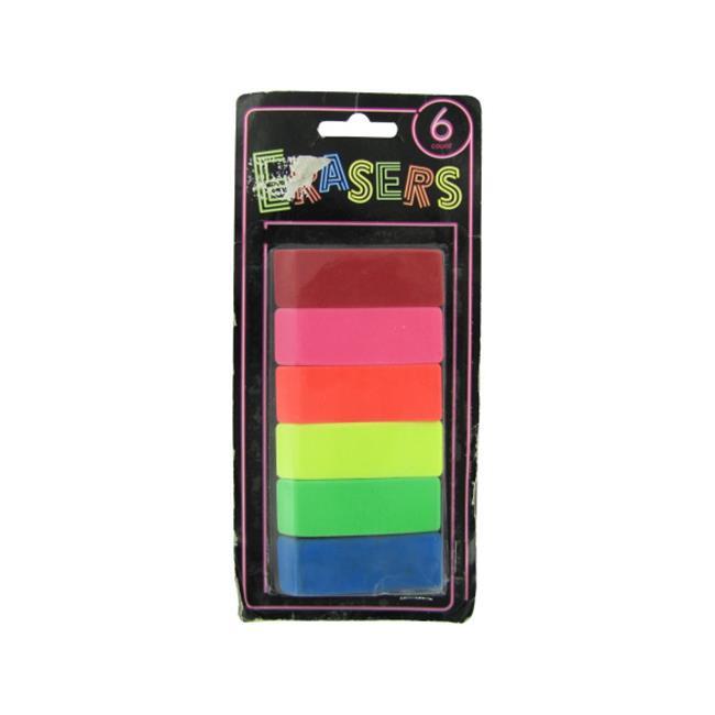 Bulk Buys OS016-72 Neon Erasers by Bulk Buys
