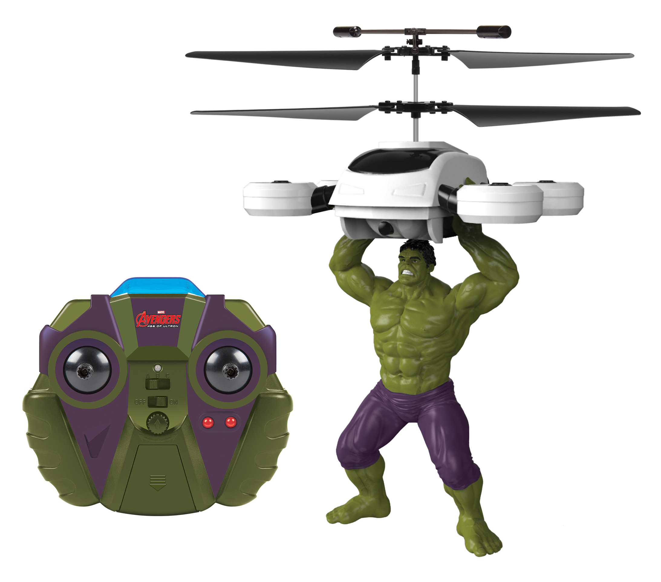 Marvel Licensed Avengers Hulk 2CH IR RC Helicopter by World Tech Toys