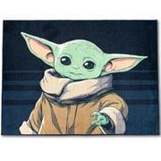 The Mandalorian Baby Yoda Indoor Use the Force Nylon Room Rug, Blue, 4.3 feet x 5.7 feet