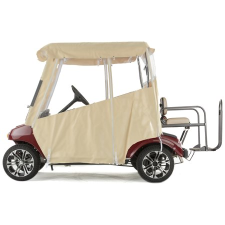 Golf Cart Enclosure TOURING 3-Sided Vinyl for Club Car DS - Choose Color ()