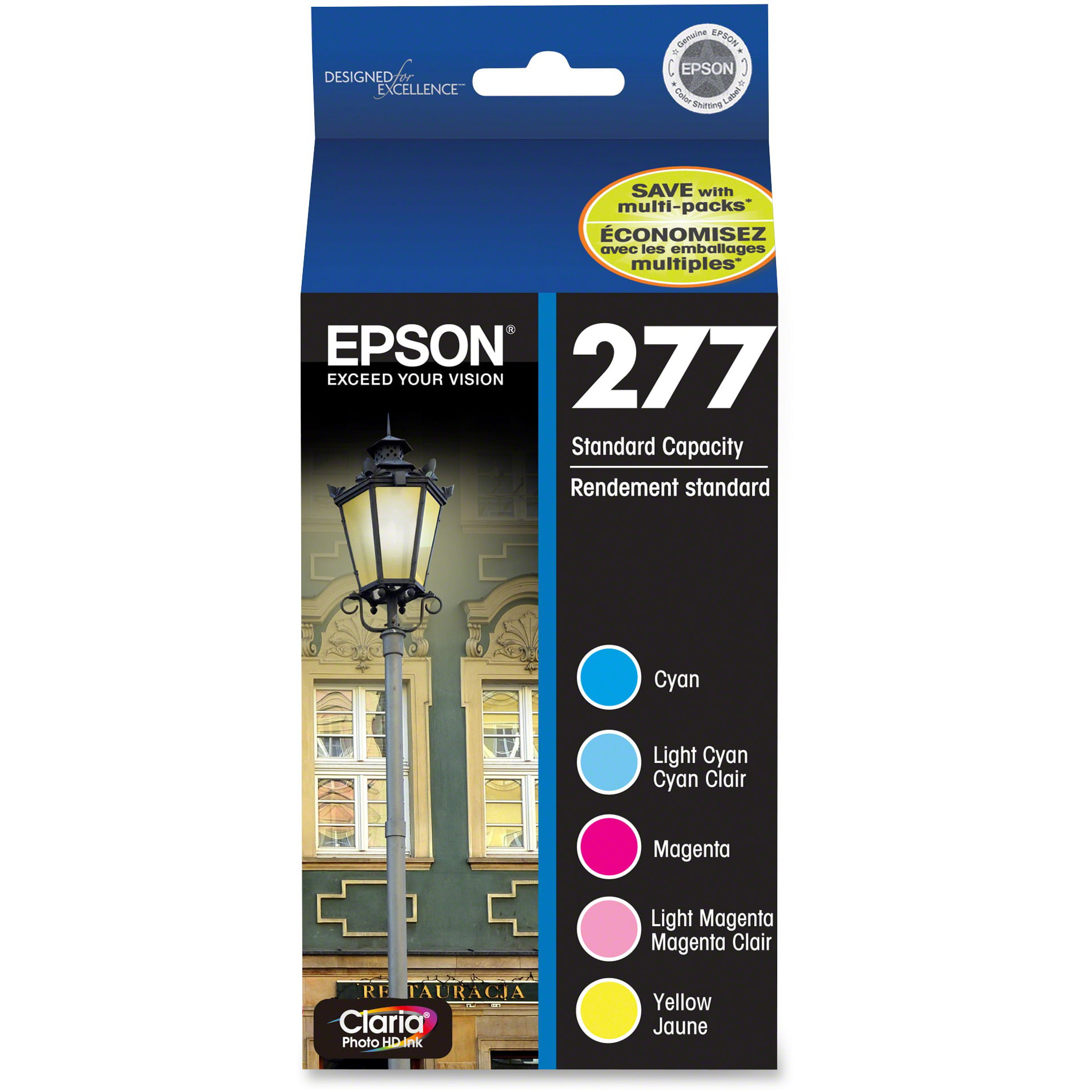 Epson, EPST277920, 277 Color Multi-pack Ink Cartridges, 5   Pack by Epson