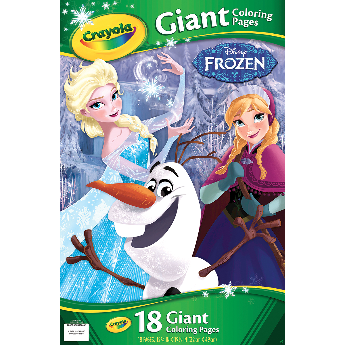 Crayola Giant Coloring Pages Featuring Disney S Frozen 18 Pages
