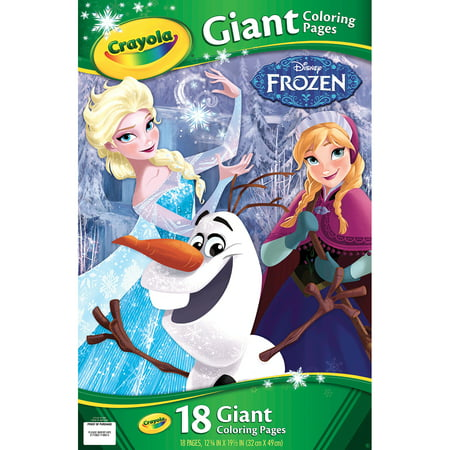 Crayola Giant Coloring Pages Featuring Disney'S Frozen, 18 Pages - Halloween Coloring Pages Disney Printable