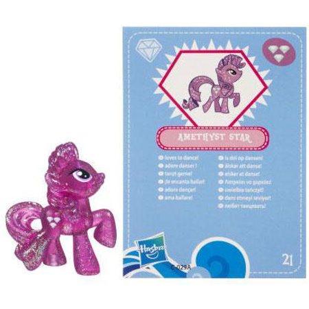 My Little Pony Series 3 Glitter Amethyst Star PVC Figure