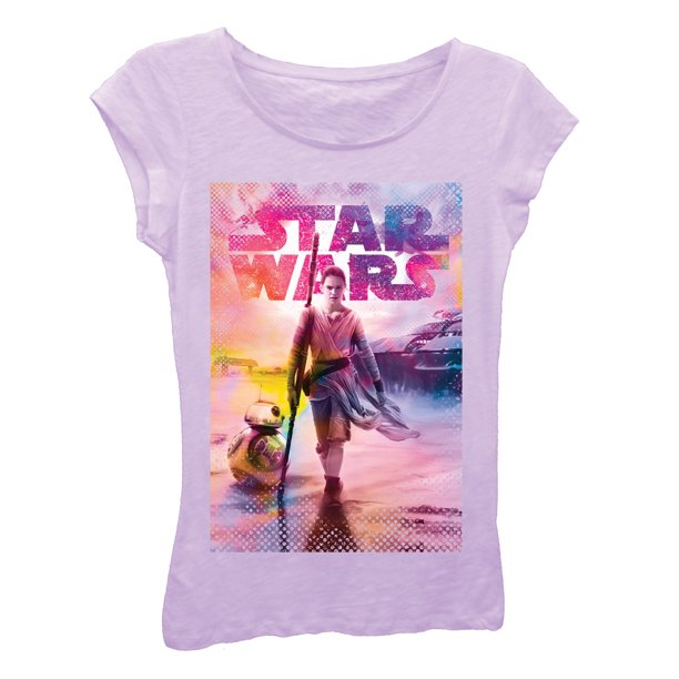 Girls' Star Wars Rey and BB-8 T-Shirt