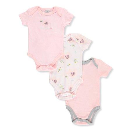 Little Beginnings Baby Girls' 3-Pack Bodysuits (Little Beginnings Girl)