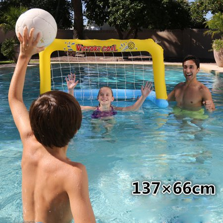 Inflatable Water Handball Gate Swimming Pool Inflatable Goal Net Float Island Water Beach Toys Party Toy - image 6 of 6