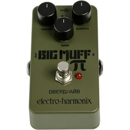 Electro-Harmonix Green Russian Big Muff Distortion and Sustainer Effects Pedal Tube Distortion Pedal