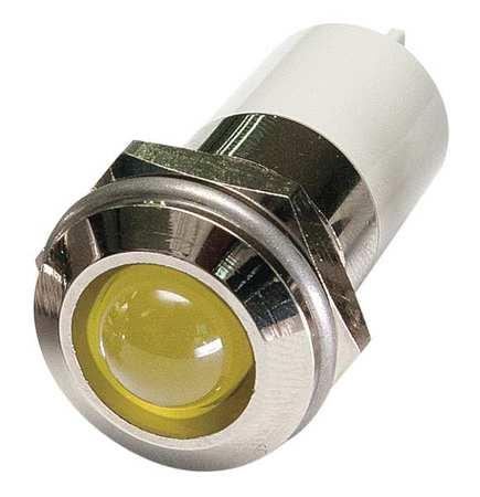 Round Indicator Light,Yellow,12VDC ZORO SELECT 24M146