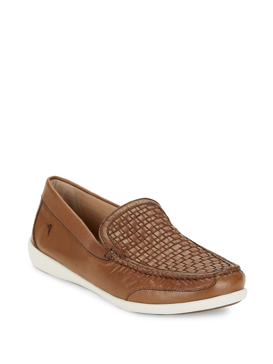Basketweave Leather Loafers