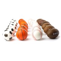 "Set of 24 Sports 2.5"" Stress Balls - Includes Soccer Ball, Basketball, Football, Baseball Squeeze Balls For Stress Relief, Party Favors, Ball Games and Prizes"