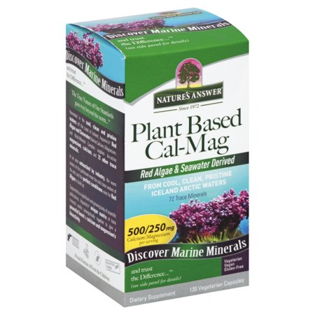- Natures Answer Plant Based Cal Mag Veg Capsules, 120 Ea