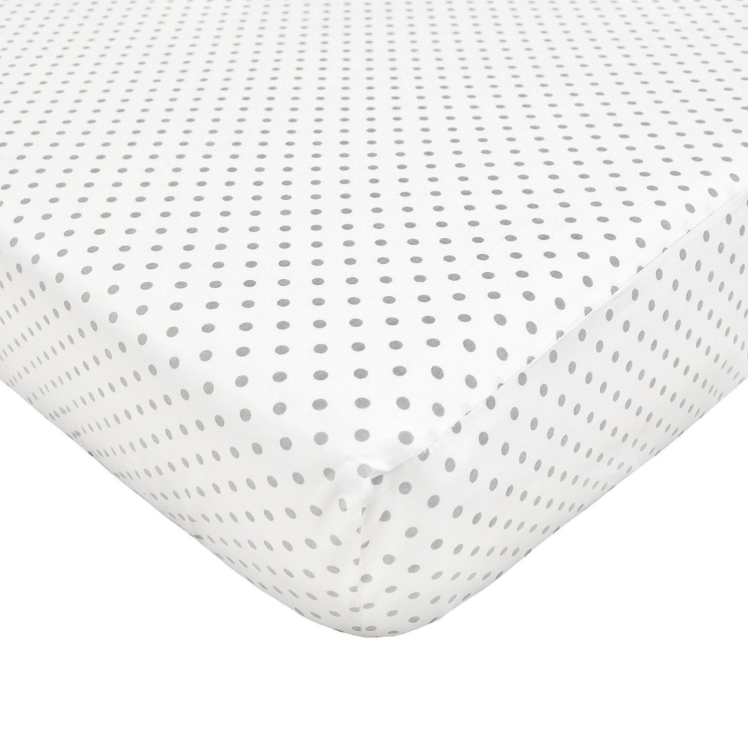 American Baby Company 100% Cotton Percale Crib Sheet - White Gray Dots