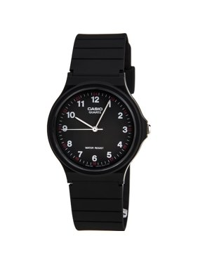 Classic Analog Water Resistant Watch w/ Resin Band - MQ24 - 10 Styles