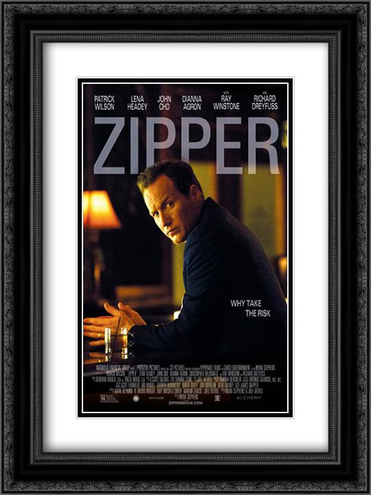 Zipper 18x24 Double Matted Black Ornate Framed Movie Poster Art Print