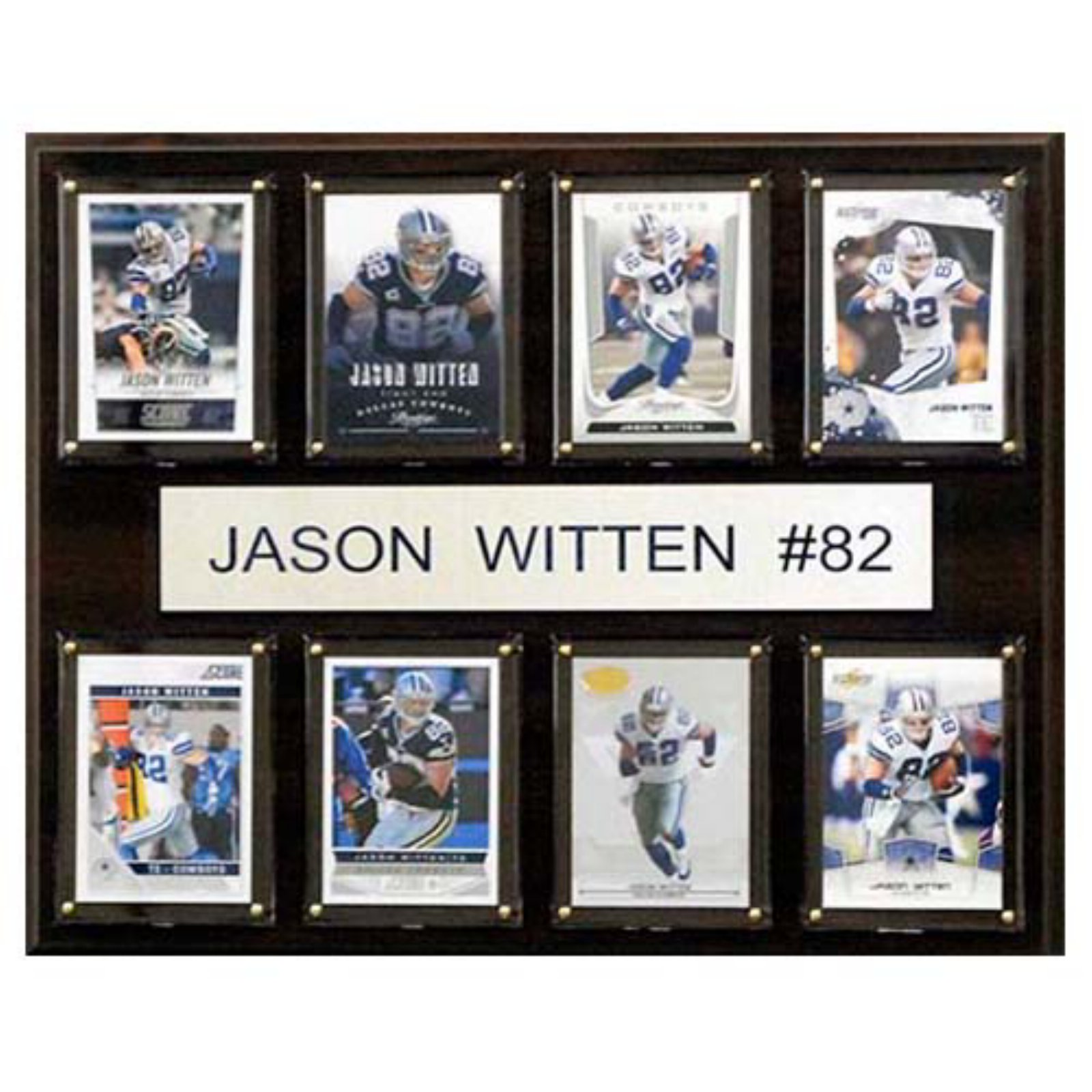 C and I Collectables NFL 15W x 12H in. Jason Witten Dallas Cowboys 8 Card Plaque
