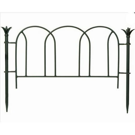 Scallops Fence Section Garden Edging and Fencing - Powder Coated in Black.