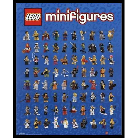 Lego - Mini Figures Poster Poster Print - Lego Decor