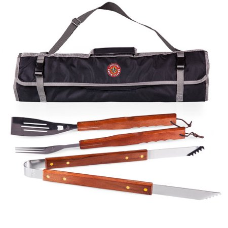 Picnic Time NCAA 3 Piece BBQ Tool Set with Tote