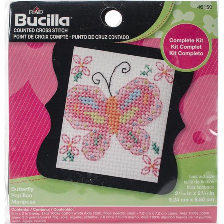 Bucilla XStitch Kit Mini Butterfly