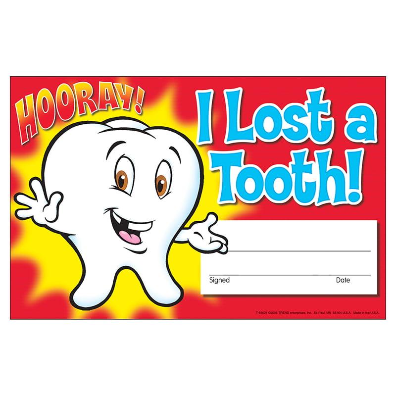 (12 Pk)Awards I Lost A Tooth Hooray