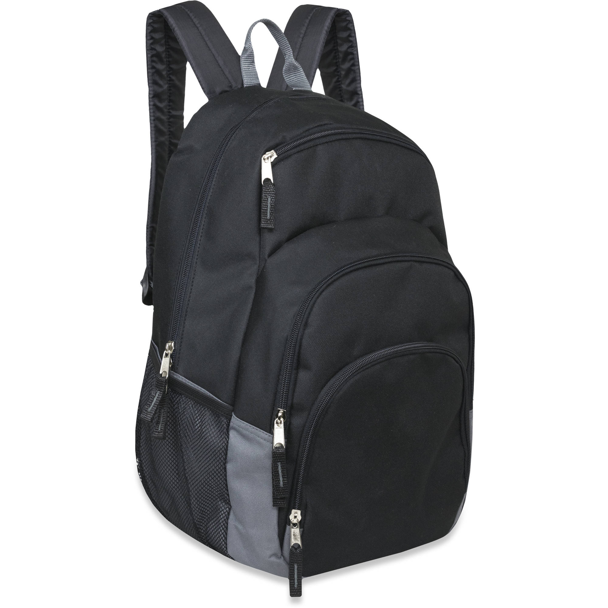 18.5 Inch Quad Pocket Backpack with Three Front Zippered Pockets