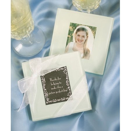 - Glass Photo Coasters