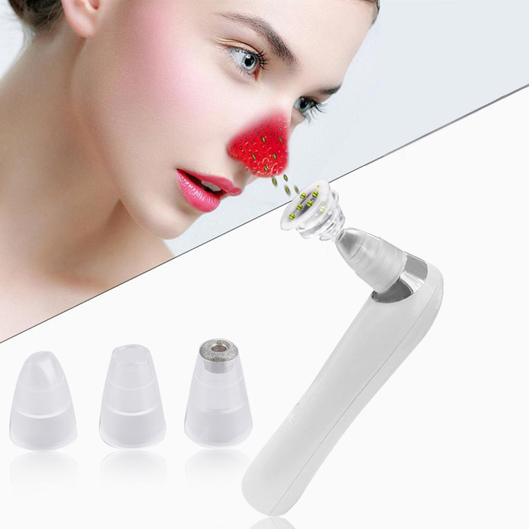 White Professional Beauty Face Pore Cleaner Nose Blackhead Acne Remover Instrument