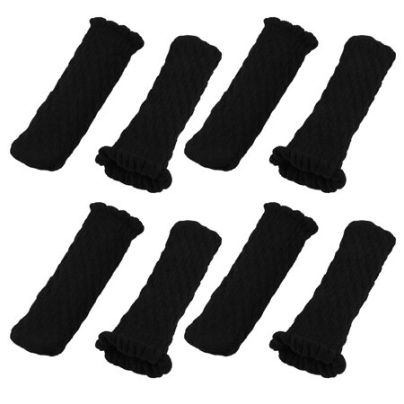 Chair Feet Covers (Polyester Non-slip Table Desk Chair Stool Bench Leg Socks Feet Cover Black)