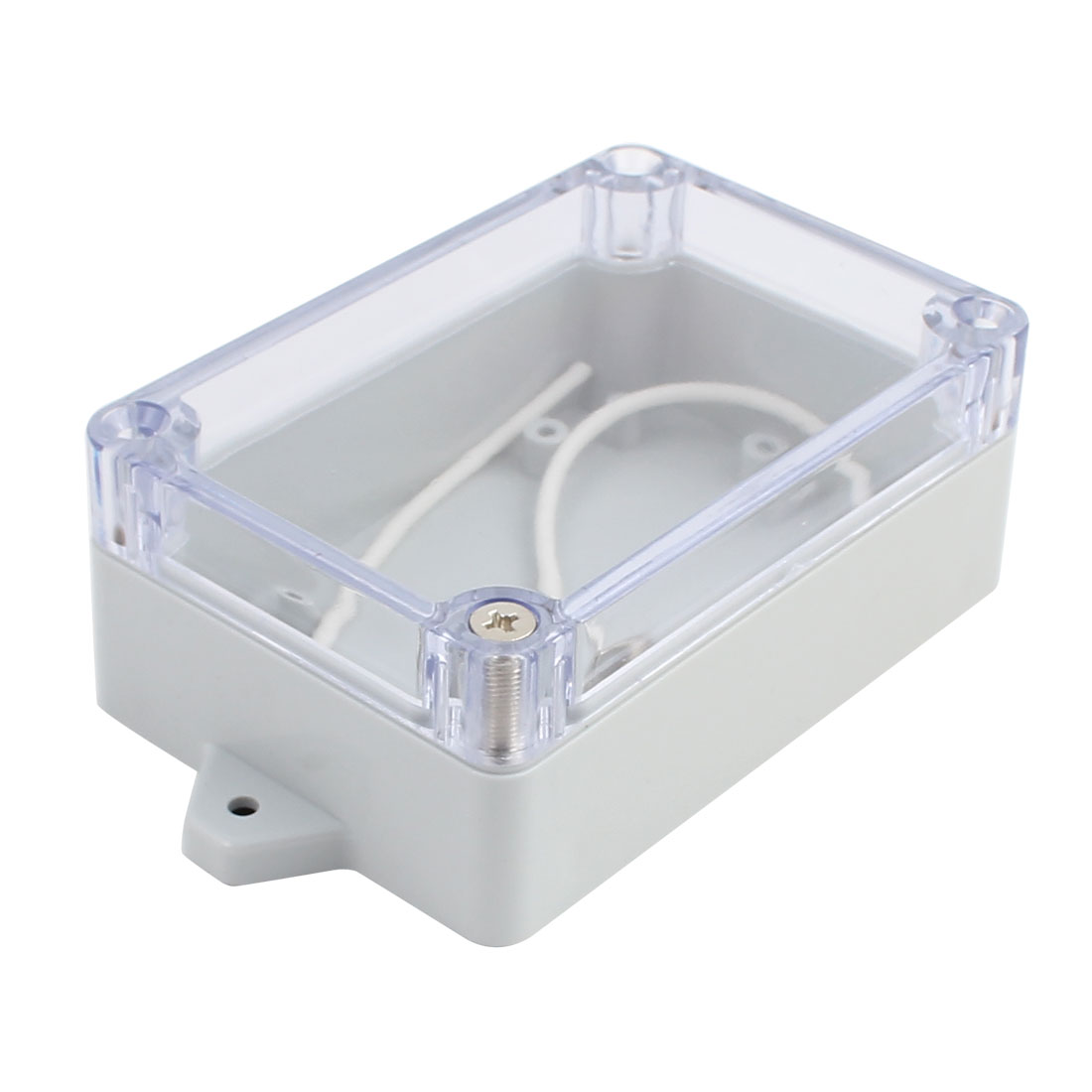 100x68x40mm Screw Mount Waterproof ABS Junction Box Enclosure w PC Clear Cover - image 3 of 3