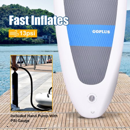 10FT Inflatable Stand Up Paddle Board SUP w/ Adjustable Paddle Travel Backpack - image 4 of 9