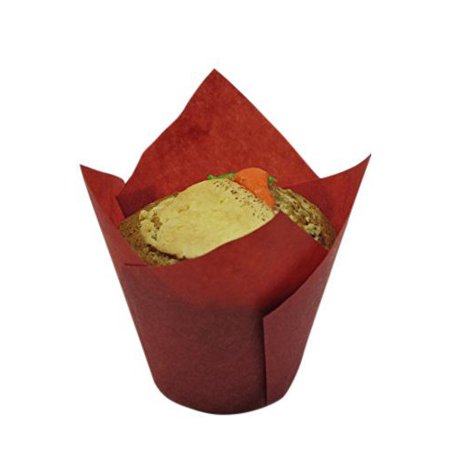 Large Cupcake Liners (Decony Red Large Tulip Cupcake Liners, 100)